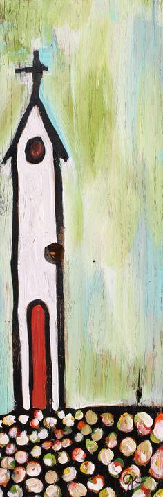 painted on wood by artist ginny elder. www.paintedpapers.net (diy abstract art on wood)