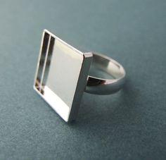 Ring blank. Sterling silver.