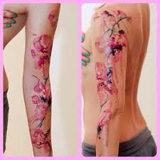 watercolor orchid tattoo - Google Search