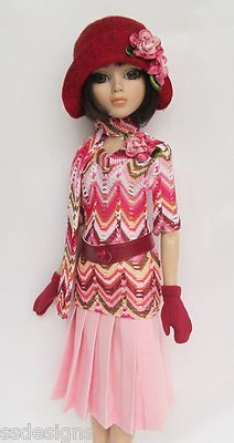 """OOAK LADY AMBER IN PARIS (1920s)! FOR 16"""" ELLOWYNE, ETC. MADE BY SSDESIGNS"""