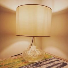 A unique ltable lights made from an antique wine decanter with a simple pale cream shade. The cable is gold and thw bulb holder has an antique finish. Perfect for any room   £80 plus postage £5.99 within the UK  #winedecanter #antique #tablelamp #bedside #lights #bespokelight #handmade