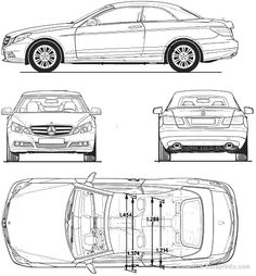 Mercedes-Benz E-Class blueprints, vector drawings, clipart and pdf templates Benz E Class, C Class, Cake Templates, Design Templates, Mercedes Benz Cars, Automobile, Clip Art, Vehicles, Cakes