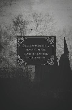 A fairy tale curse, often invoked by children in distress. It turns everything black, allowing them to hide from whatever's chasing them.