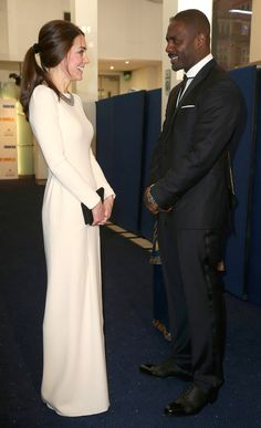 Kate got the giggles with Idris Elba at the Mandela: Long Walk to Freedom premiere.