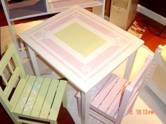 Childrens Table and Chairs by Judi Painted It, via Flickr