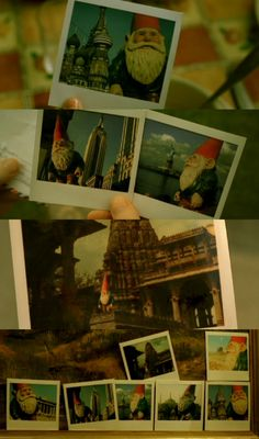 Borrow someones lawn gnome and take it with you on your travels and take pictures of the gnome in all the places you travled to then when you get back place the gnome and pictures on the owners step. Amelie, Polaroid Pictures, Polaroids, La Reverie, The Stranger Movie, Audrey Tautou, Beautiful Film, Portrait Lighting, Movies Worth Watching