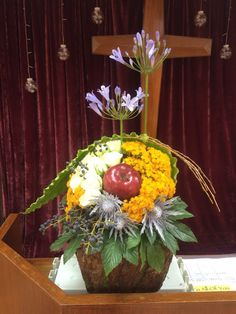 You are the apple of my eye, flower arrangement