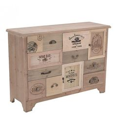 WOODEN DRAWER IN BEIGE COLOR 101X36X76