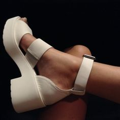 Women clothing footwear and accessories: Photo Sock Shoes, Cute Shoes, Me Too Shoes, Louboutin Shoes, Shoes Heels, White Sandals, Shoe Closet, Types Of Shoes, Shoe Game