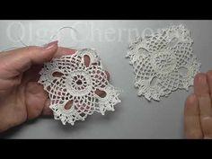 (13) Винтажный очень красивый квадратный мотив - YouTube Crochet Blocks, Crochet Earrings, Floral, Youtube, Tutorial, Jewelry, Jewlery, Jewerly, Flowers