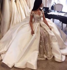 Gorgeous Ball Gown,Lace Bridal Prom Dresses,Fashion Bridal Dress,Sexy https://bellanblue.com