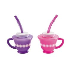 Tea+Party+Novelty+Cups+with+Straws+-+OrientalTrading.com