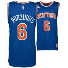 f9dd538e8 Kristaps Porzingis New York Knicks Steiner Sports Autographed Blue Swingman  Jersey - Steiner Sports