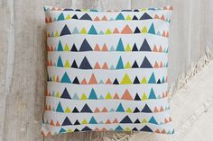 Buildings and Mountains Pillow by Refound Nostalgia | Minted
