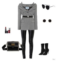 """""""Untitled #82"""" by apwbd ❤ liked on Polyvore featuring Helmut Lang, Prada, Humble Chic and Christian Dior"""