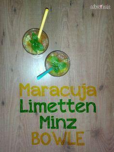 Maracuja-Limetten-Minz-Bowle