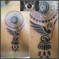 #mandala #hummingbird #colibri #azteca  #maya #espalda #negro #tattooarteypiel…