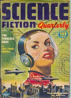 Milton Luros cover, (Science Fiction Quarterly, Nov 1952)    retrofuturism
