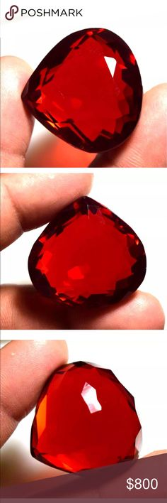 Red Topaz 87.10 Carats GGL Certified Earth Mined natural Topaz. Product Detail PRODUCT NAME:  Topaz SHAPE: Pear COLOR:  Red QUANTITY:  1 Piece WEIGHT:  87.10 Ct. SIZE: 27.58 x 28.18 x 17.70 mm.                                                                                ORIGIN:  Brazil  TREATMENT : Hue Enhanced  Clarity: VVS1 Other