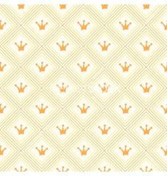 Simple seamless pattern with crown orange diamond and vector  by Kannaa on VectorStock®