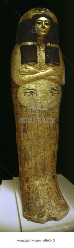 Sarcophagus of a priestess, Egypt, ca.1200 BC, 21th dynasty. Gilded wood | British Museum, New Kingdom