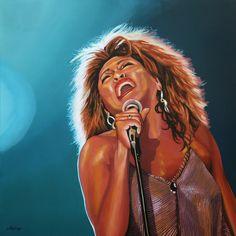 Nieuw in mijn Werk aan de Muur shop: Tina Turner Schilderij 3