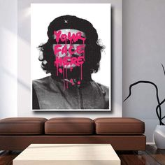 The Face Of Rebellion Canvas Abstract Canvas Wall Art, Wall Canvas, Famous Pop Art Artists, Roy Lichtenstein, Canvas Home, Big Canvas, Andy Warhol, Decorating Your Home, Wall Art Prints