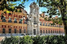Palacio de San Telmo que fue sede de la Universidad de Mareantes y ahora sede de la Presidencia de la Junta de Andalucía SEVILLA