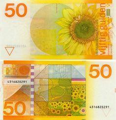 1982 - 50 gulden - Zonnebloem - ontwerper Ootje Oxenaar