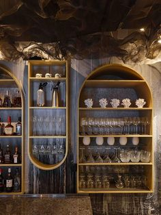 Moscow's Humans Restaurants pays tribute to the sea, with a tasteful maritime theme. Moscow Restaurant, Restaurant Design, Cafe Restaurant, Seafood Restaurant, Drinks Cabinet, Cafe Interior, Bistro Interior, Interior Design, Wall Bar