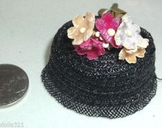 Vintage Straw Doll Hat Flowers PILLBOX Style Ginny Jill Muffie Ginger Etc. in Dolls & Bears, Dolls, By Brand, Company, Character, Vogue, Ginny, Vintage (Pre-1970)   eBay