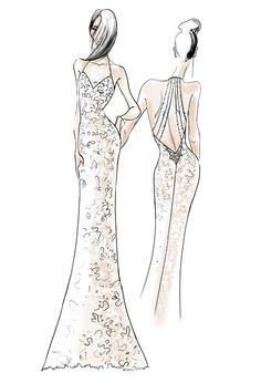 Fall 2013 collection sketch   Wtoo   brides.com