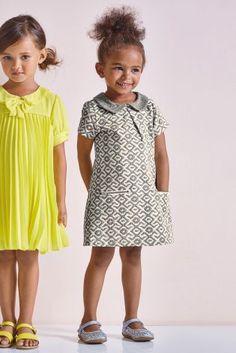 Buy Grey Collar Dress (3mths-6yrs) online today at Next: United States of America #party #birthday #wedding #girls