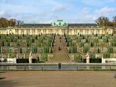 Potsdam, Berlin Sanssoucci Palace, This was my Favorite view of the palace