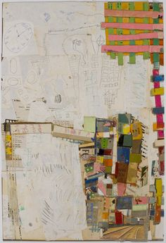 lance letscher -  Giant Robot, 2008, Collage on masonite http://www.howardscottgallery.com/dynamic/artist.asp?artistID=3