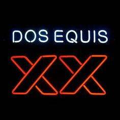 Xx Dos Equis Neon Sign///How I love you neon signs , Real nice for my Home Bar Deco