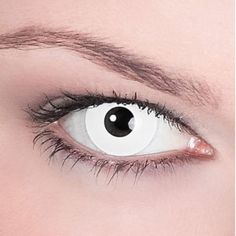 White Out Contacts for Cosplay Ideas. This article talks about when to use standard white out contacts vs sclera white out contacts. Special Effect Contact Lenses, Natural Contact Lenses, Best Contact Lenses, Cosplay Contacts, The Stranger Movie, Halloween Contacts, Angel Eyes, Special Effects, Makeup