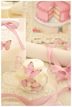 Butterfly favor & table decoration idea - papillon{Butterflies and sweet bon bon}