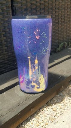 Disney Castle with Fireworks Amethyst Purple Glitter Stainless Steel Glitter Tumbler Custom Tumbler Name or Monogram Mickey Minnie Mouse – Products – New Epoxy Starbucks Cup, Starbucks Tumbler, Red Glitter, Glitter Party, Glitter Cups, Glitter Force, Glitter Stars, Diy Tumblers, Custom Tumblers