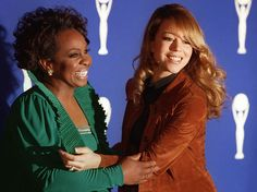 Mariah Carey and Gladys Knight at the 11th Annual Rock and Roll Hall of Fame Induction Dinner