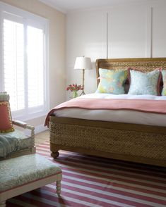 House of Turquoise: Caccoma Interiors bedroom colors Cozy Bedroom, Dream Bedroom, Bedroom Decor, Pretty Bedroom, Bedroom Chair, Bedroom Wall, Master Bedroom, House Of Turquoise, Wall Behind Bed