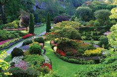 Butchart Gardens Victoria British Columbia | The Butchart Gardens, Victoria, British Columbia, Canada 12' x 8' (3 ...