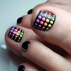 Colorful Dotticure Patern For Your Toes ❤ 40+ Incredible Toe Nail Designs for Your Perfect Feet ❤ See more ideas on our blog!! #naildesignsjournal #nails #nailart #toes #toenaildesigns #toenails Neon Nail Designs, Pretty Nail Designs, Acrylic Nail Designs, Crazy Acrylic Nails, Neon Nail Art, Cute Toe Nails, Pretty Nails, Rainbow Toe Nails, Diy Vinyl Nails