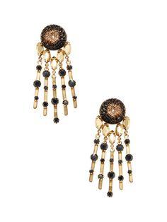 Crystal Dangle Drop Earrings by Elizabeth Cole at Gilt