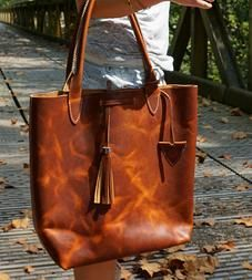 Isla Leather Tote Bag