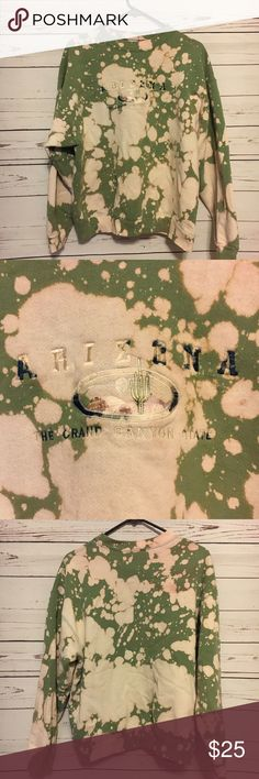 Vintage Arizona the Grand Canyon state sweatshirt Vintage Arizona the Grand Canyon sweatshirt. Reworked by us! One of a kind vintage. Any color variation on this sweatshirt is on purpose. Please be aware before purchase. 22 arm to arm and 24 shoulder to hem. Definitely a unique look. Reduce reuse recycle ♻️ Vintage Tops Sweatshirts & Hoodies