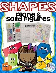 """Shapes - 2D/3D Plane & Solid Figures Are you looking for a fun, engaging way to practice identifying shapes and understanding the shape """"lingo?"""" There are a variety of activities included in this packet: paper pencil, cut and paste, color, and interactive notebooks ALL IN ONE RESOURCE!  I have also used these activities to study BOTH Flat and 3-dimensional shapes! Use this to differentiate or simply introduce it all to your little ones!"""