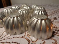 Vintage Aluminum Classic Jello Molds  Set of by BubbiesMemories, $20.00