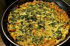 Spinach and Leek Frittata with Feta