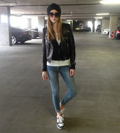 H New Icons Leather Jacket, Gypsy Warrior Jeans, Gypsy Warrior Sunglasses, Nike Air Max
